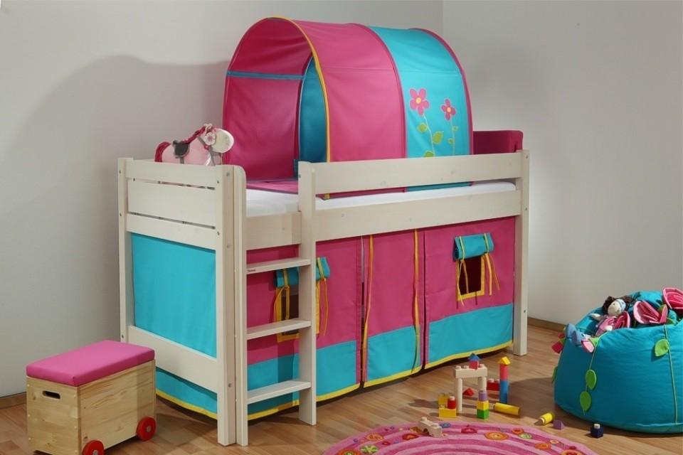 Dětská patrová postel Bella nízká bílá