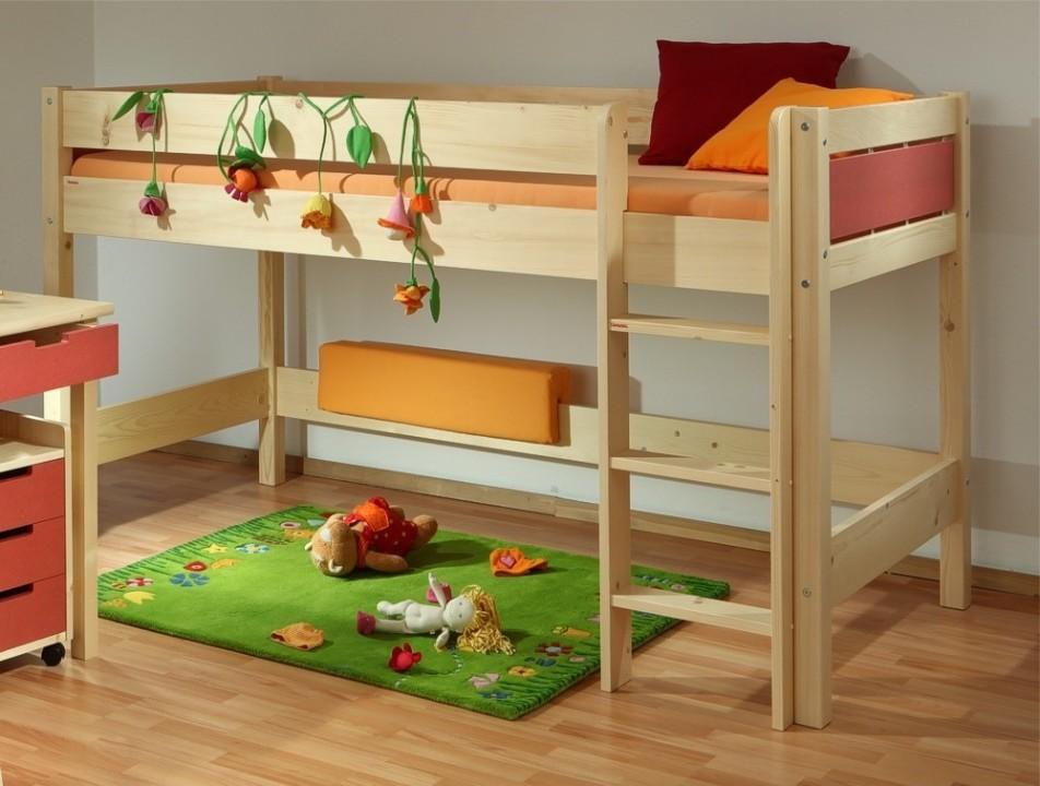 Dětská patrová postel Bella nízká Native