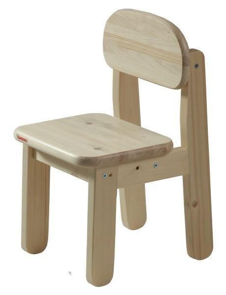 Dětská židle PUPPI - PŘÍRODNÍ