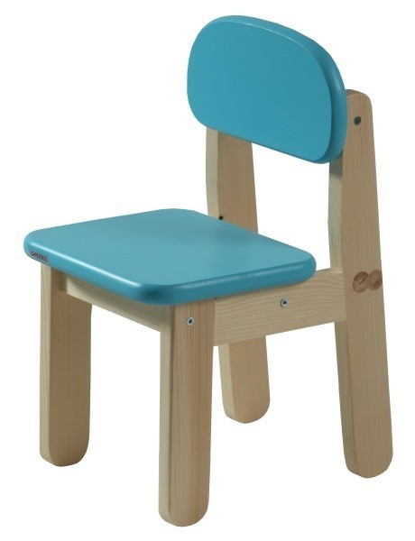 Dětská židle PUPPI - SVĚTLE MODRÁ