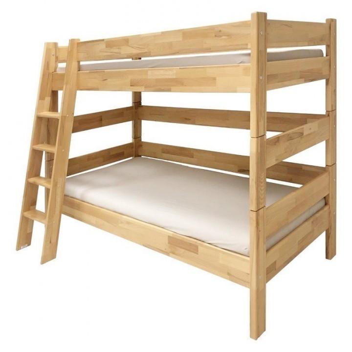 Patrová postel Sendy, výška 155 cm, buk č.1
