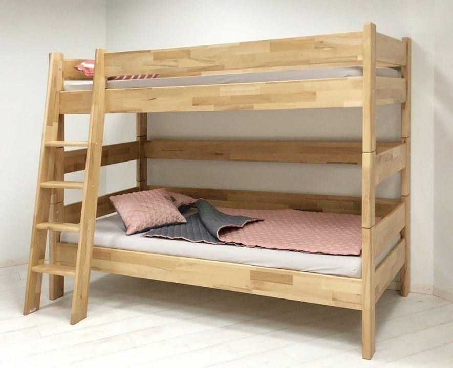 Patrová postel Sendy, výška 155 cm, buk č.2