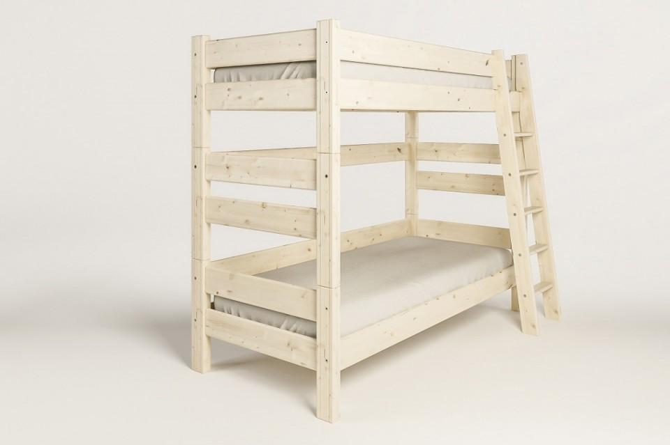 Etážová postel Sendy, výška 180 cm - Smrk