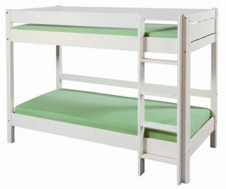 Etážová postel Bella vysoká bílá / postel Molly bílá