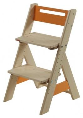 Dětská rostoucí židle ZUZU - oranžová č.1