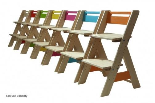 Dětská rostoucí židle ZUZU - oranžová č.2