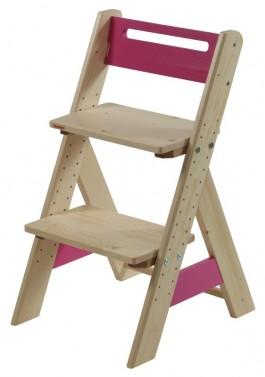 Dětská rostoucí židle ZUZU - růžová