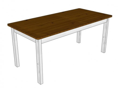 Jídelní stůl 175x85 bílo-hnědá