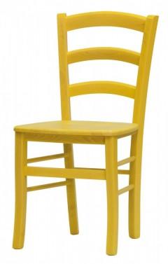 Židle PAYSANE žlutá - masivní sedák