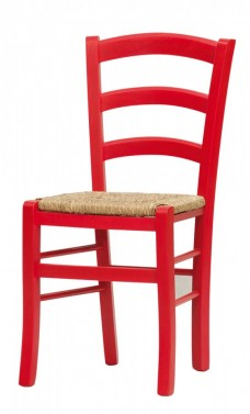 Židle PAYSANE červená - masivní sedák