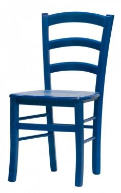Židle PAYSANE modrá - masivní sedák