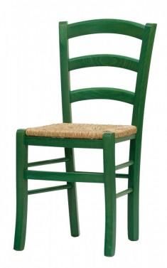 Židle PAYSANE zelená - sedák s výpletem