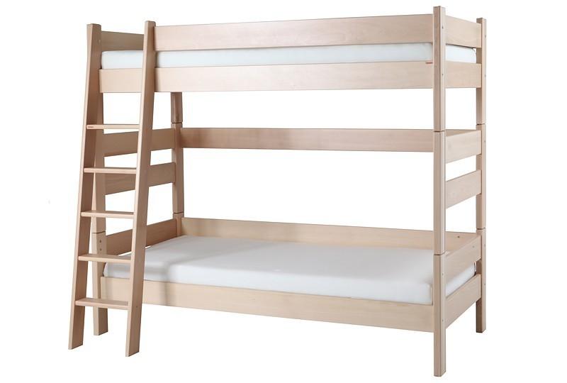 Etážová postel Sendy, výška 180 cm - BUK