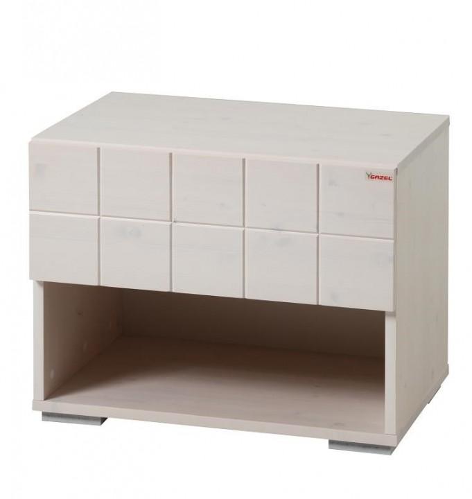 Noční stolek Hanny - Smrk/Bílá